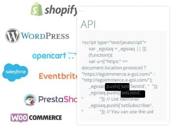 Captura Email Marketing - Plugins WordPress, Shopify e outros | E-goi