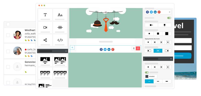 Criação de campanhas de Email Marketing e Gestão de Contatos - E-goi