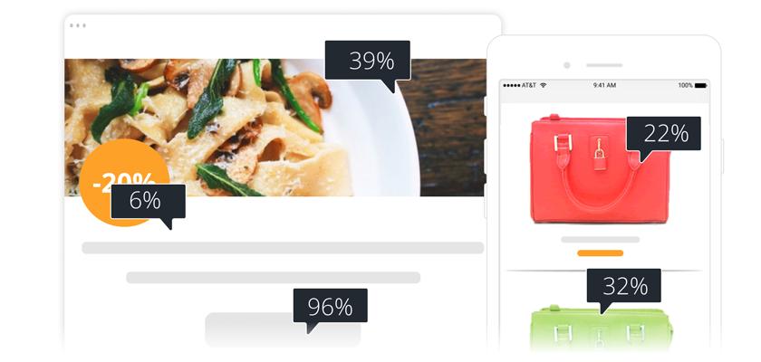 Relatório de Cliques Visuais em Email Marketing - E-goi